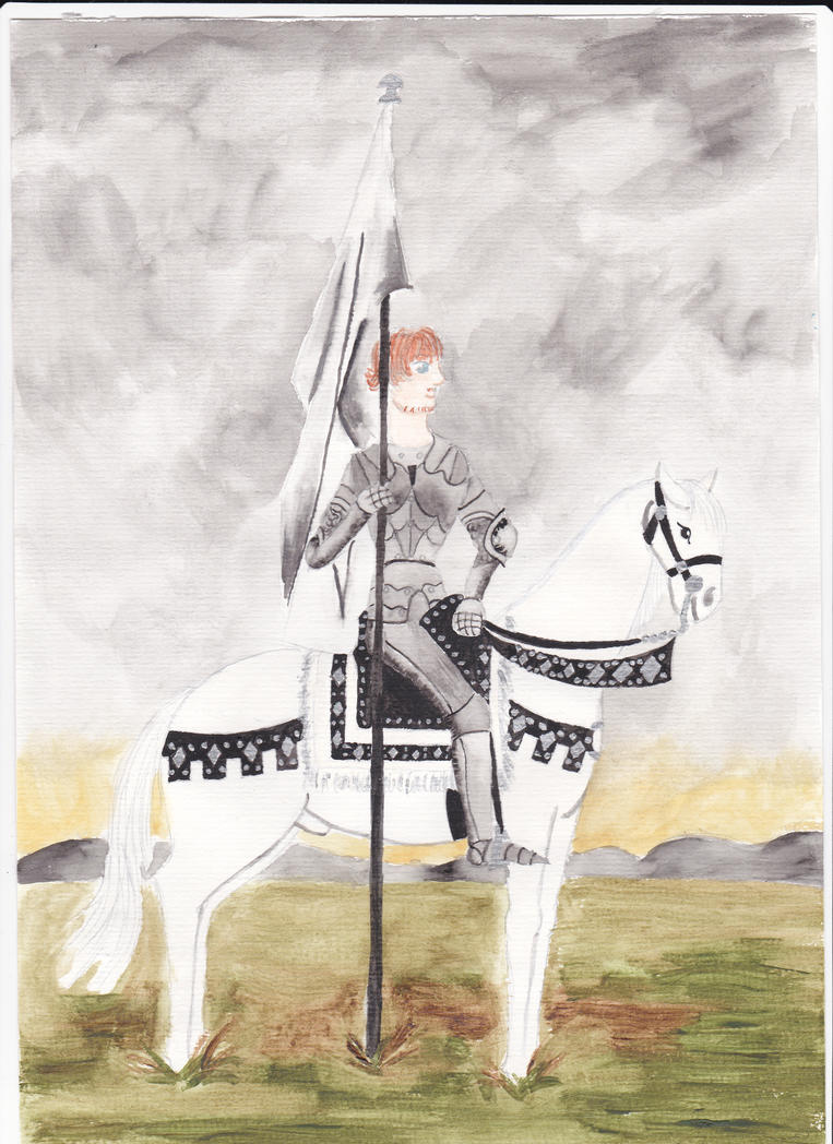 Sir Rupert on a white horse by Szerzetes