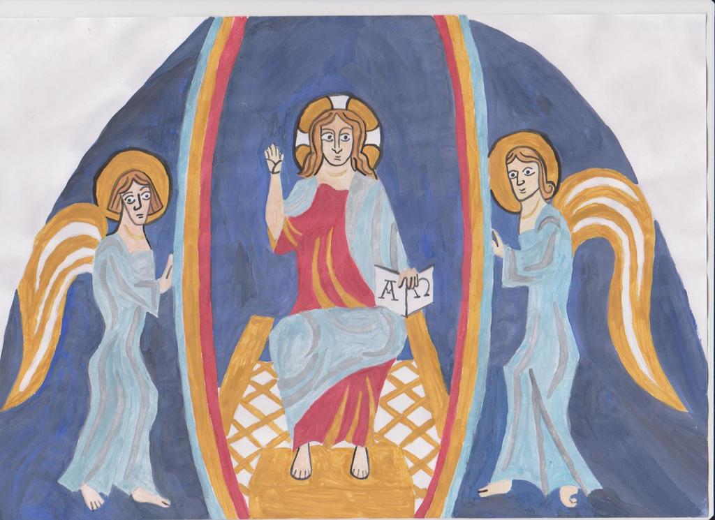 Jesus Christus and two angel from Pecs-Malom by Szerzetes
