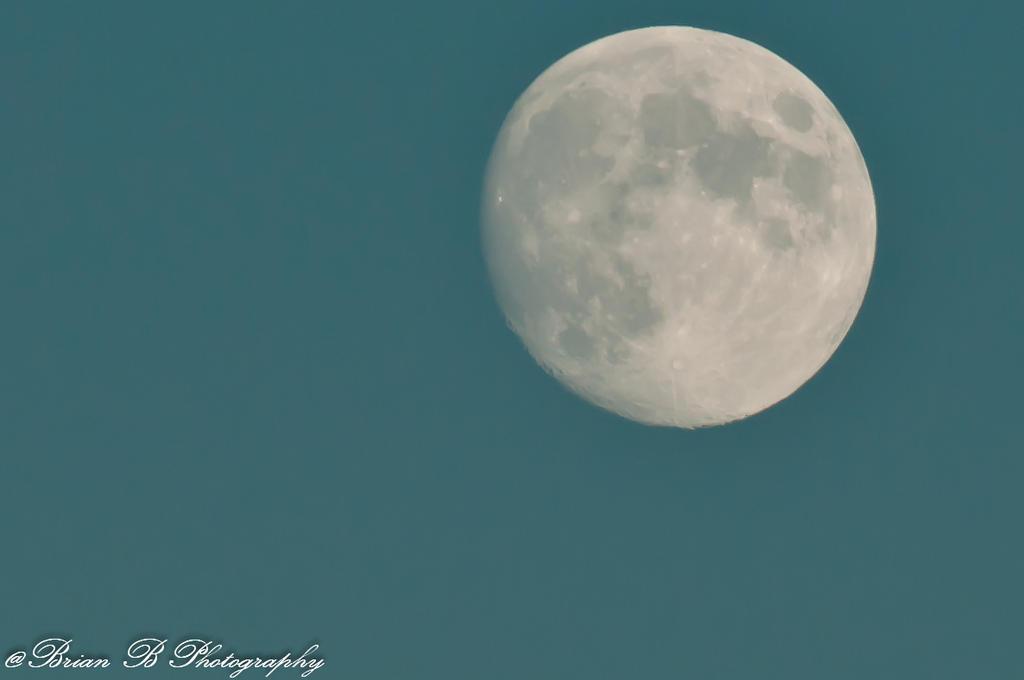 Big Ole Daylight Moon by Brian-B-Photography