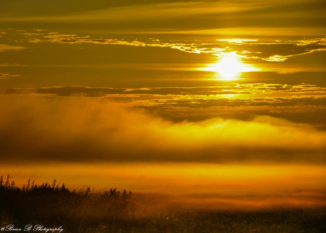 Fire on the Fog by Brian-B-Photography