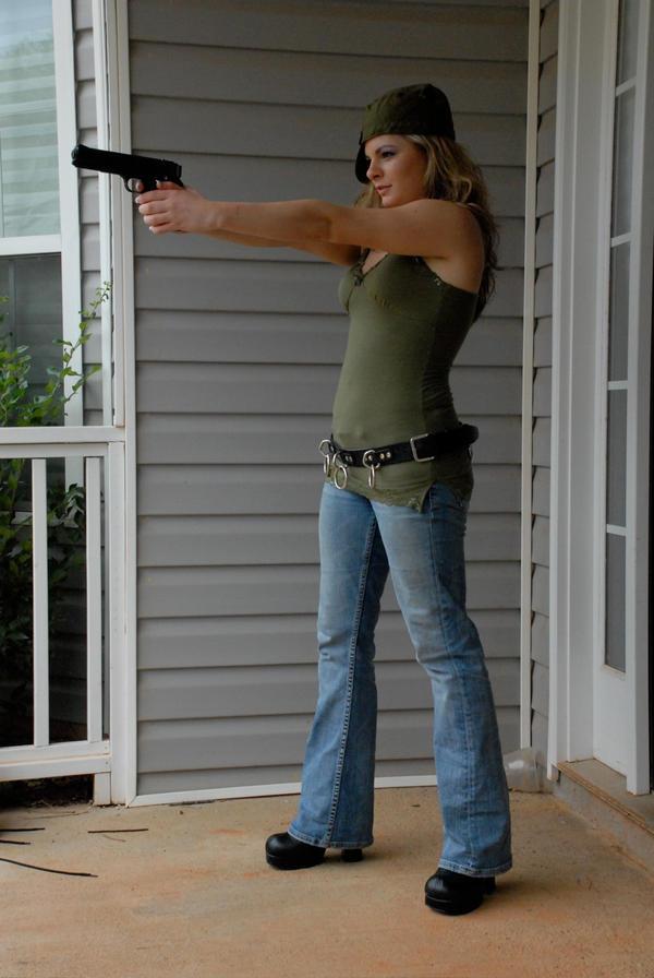 Gun Girl 17 by LinzStock