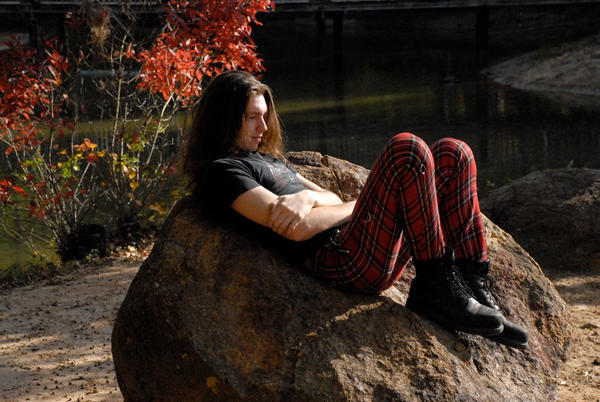 Taylor Red Plaid Pants 3 by LinzStock