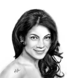 Michelle Monaghan painting