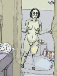Velma - nervously showering by LondonJohnIII