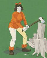 Velma gave the tree 40 whacks