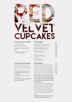 Typography based recipe card