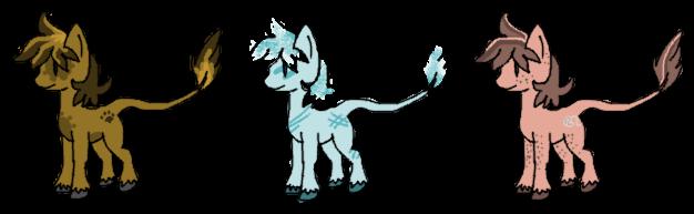Pony Creature Adopts [2 LEFT] by Kuhiro