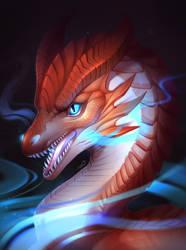Dragon portrait by K-Dromka