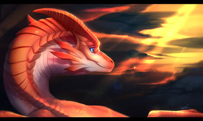 Dragon portrait #2 by K-Dromka