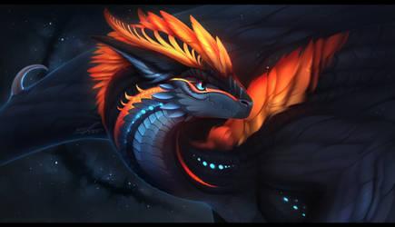 Dragon portrait #3 by K-Dromka