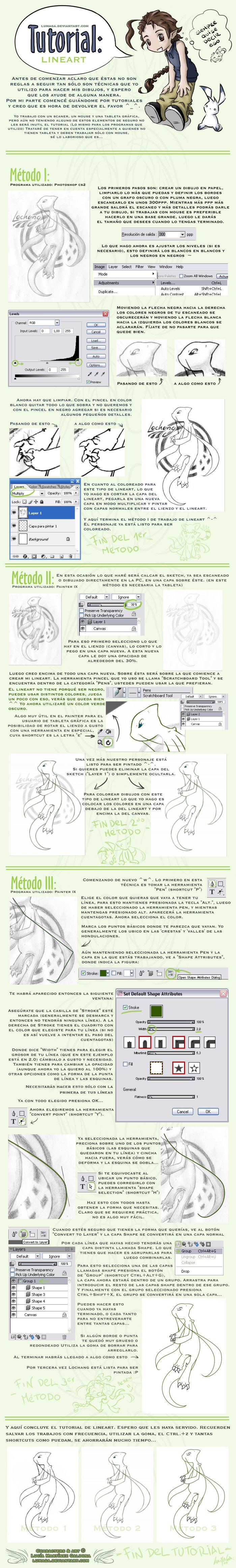 Tutorial: Lineart por LuMaGa by noticias