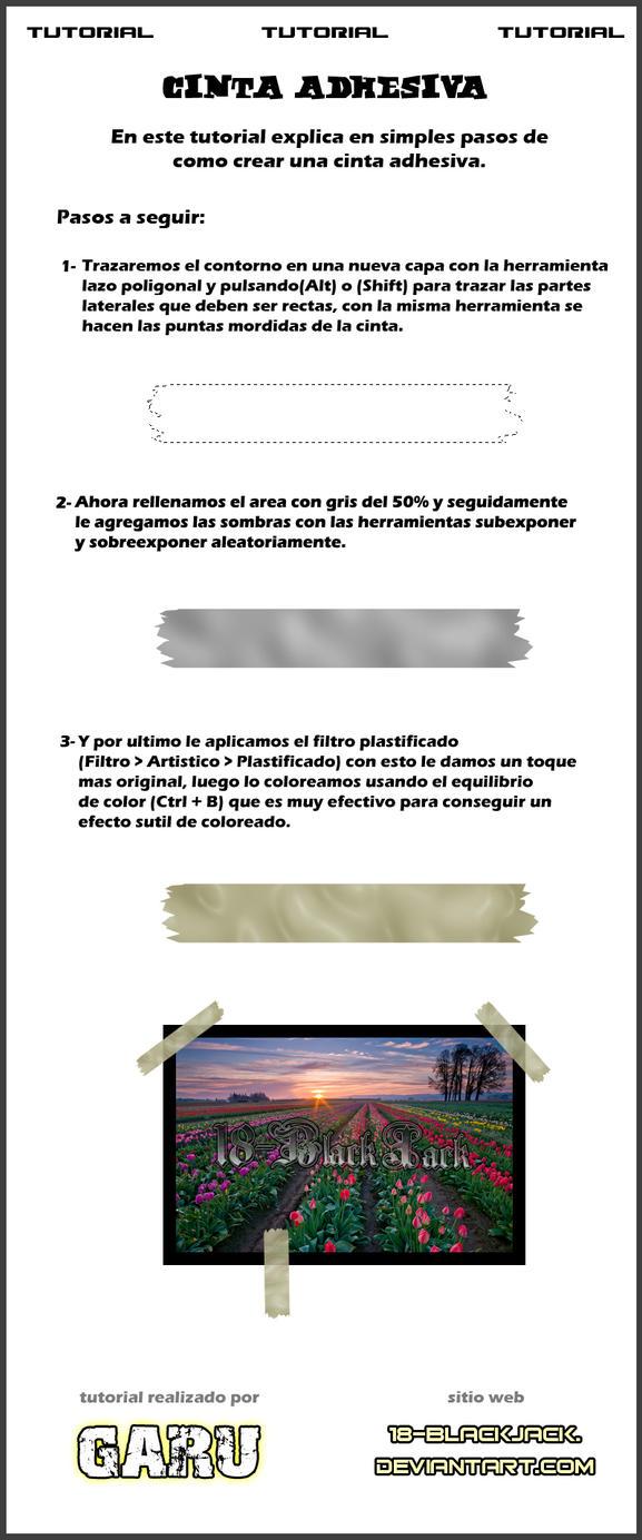 Crea cinta adhesiva en Pshop by noticias
