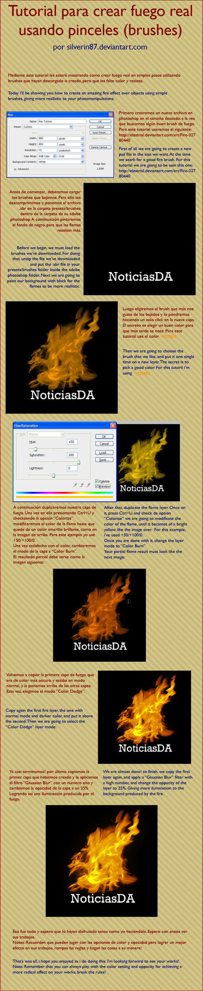 Tutorial Crear Flamas en Pshop by noticias
