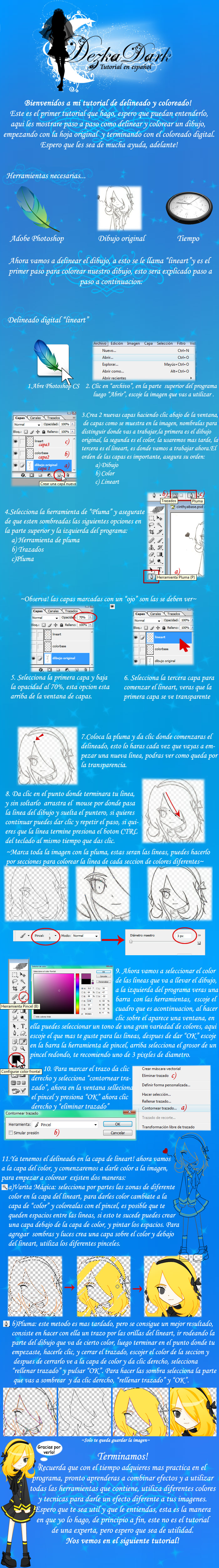 Tutorial Lineart por DezkaDark by noticias