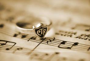 CTR Ring on Sheet Music