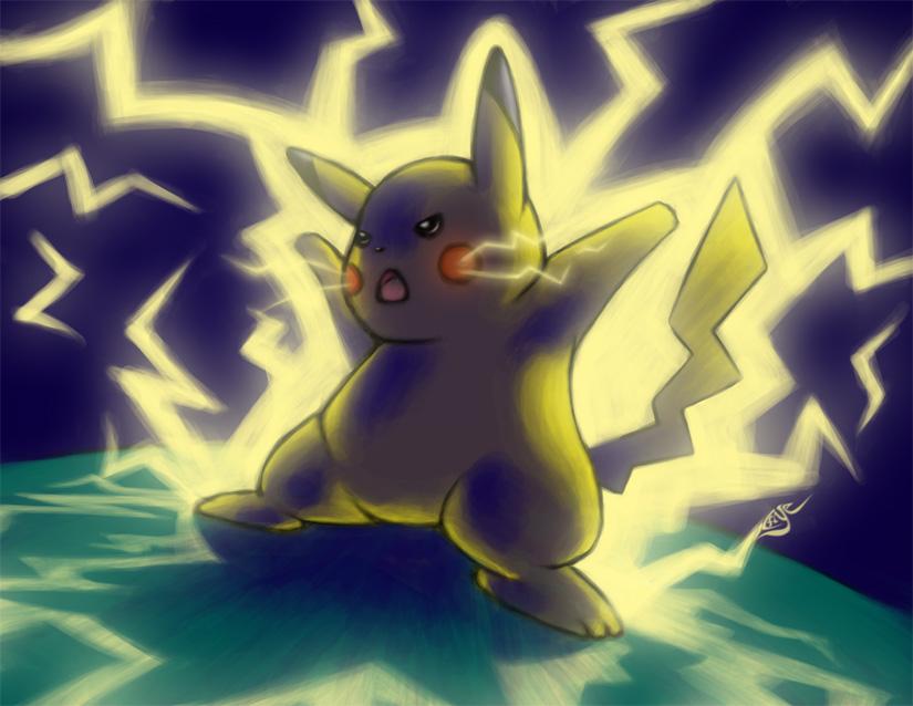 Pikachu Thunder by icf...