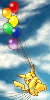 Pikachu in the Sky