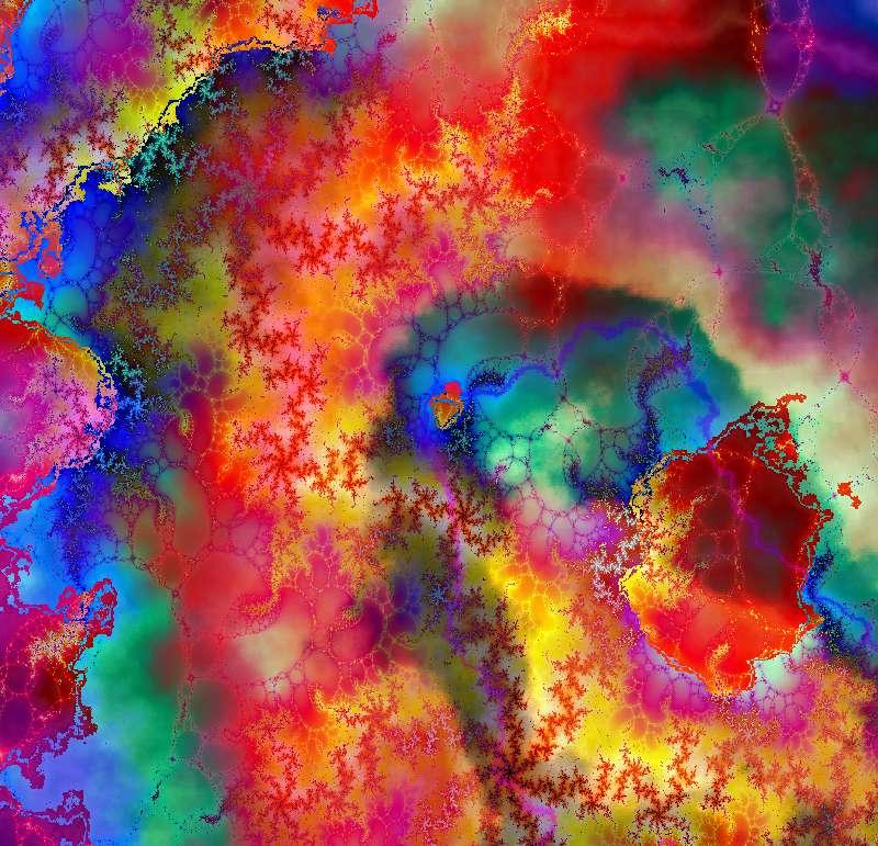 Summer Colored Batik Fractal by clotilda-warhammer on deviantART
