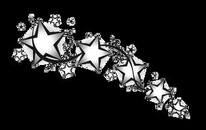Star divider Black White