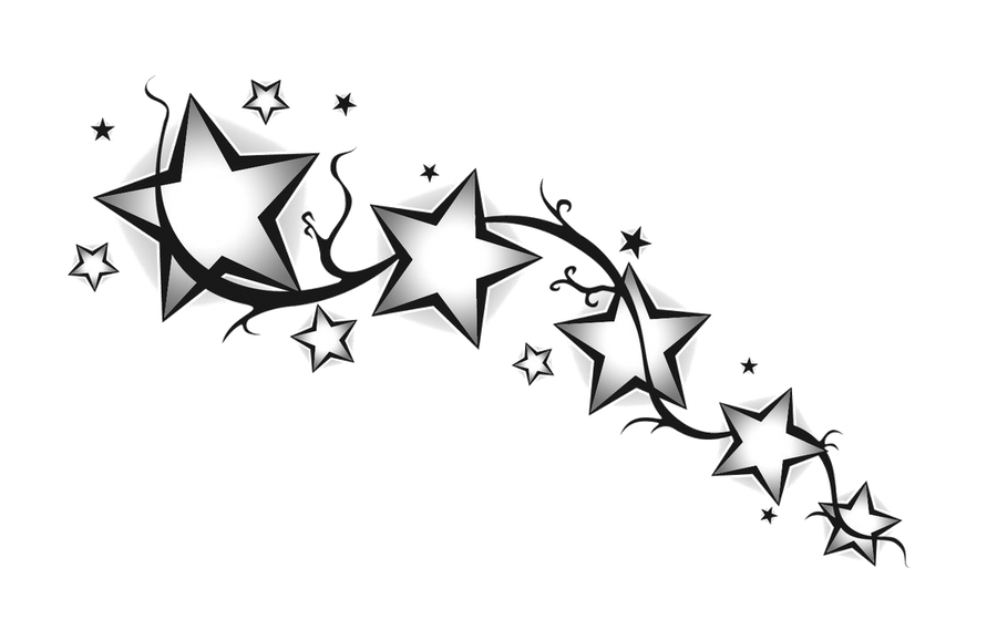 Star divider Black White by