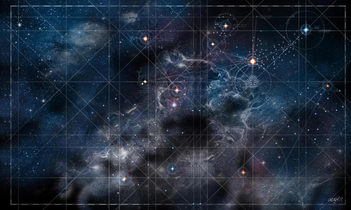 Honorverse Starmap by Genkkis