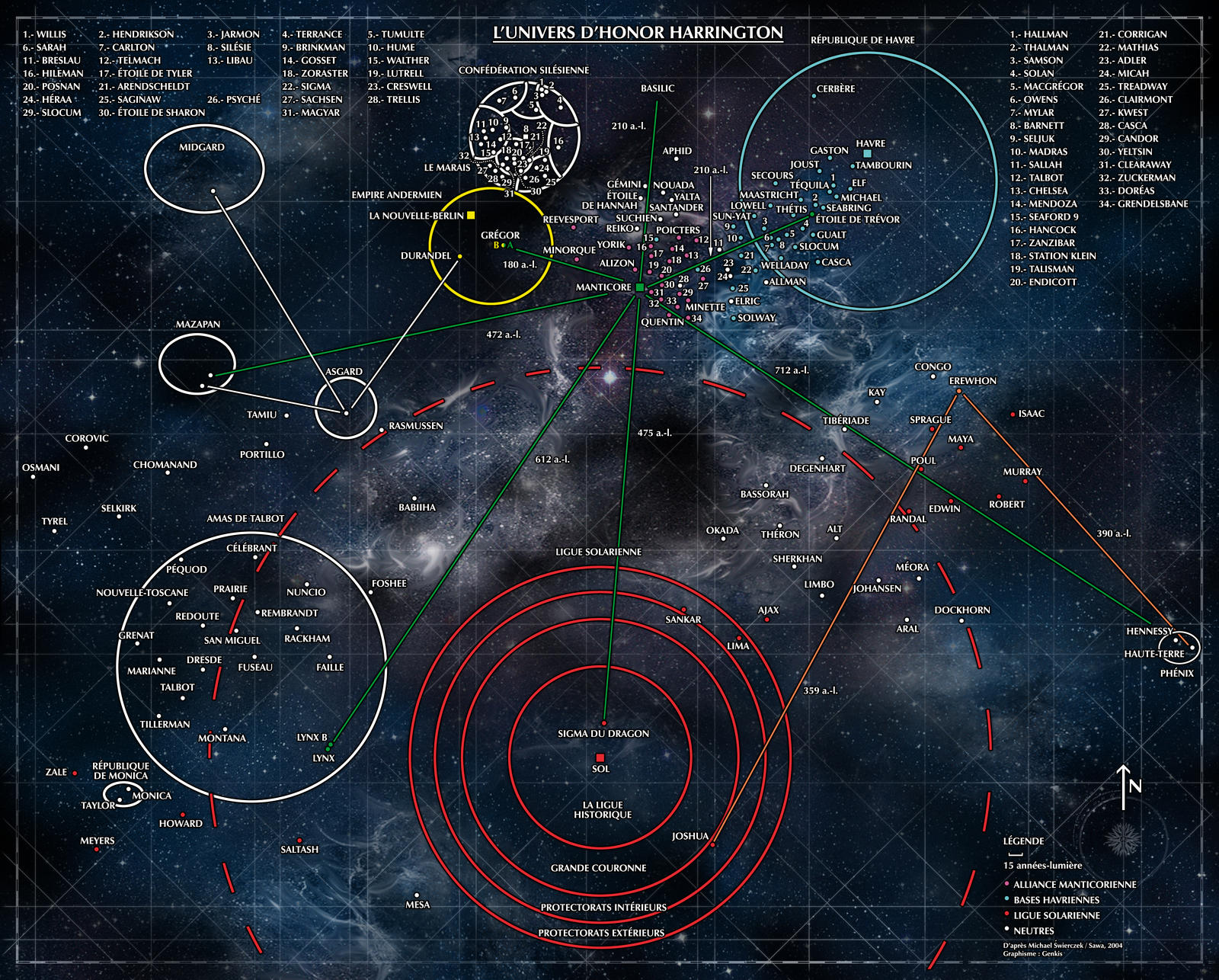 Map of the Honorverse by Genkkis