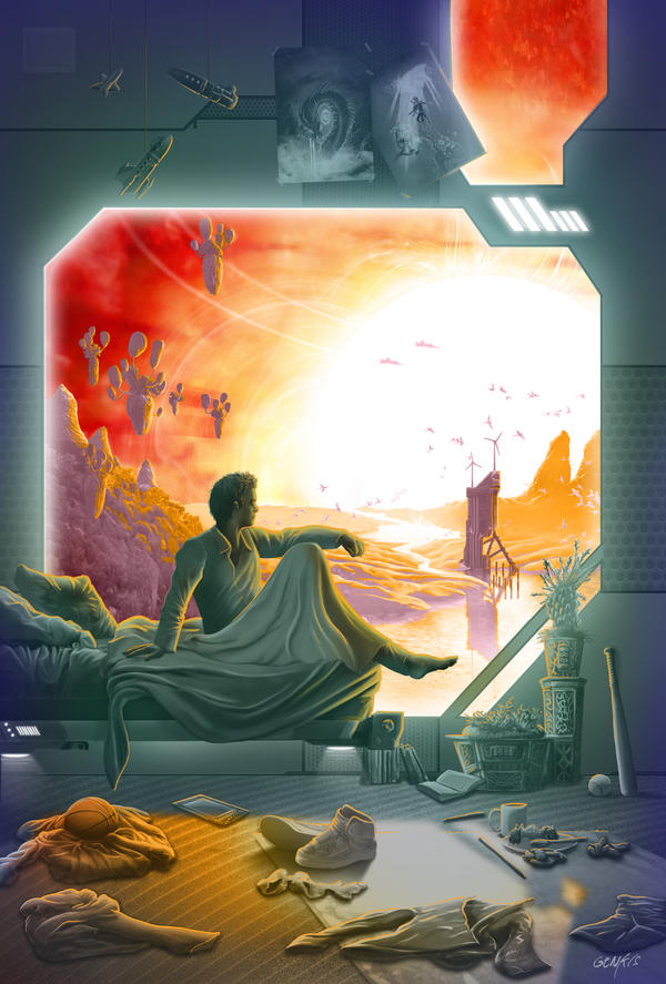 Sci-fi-sunrise by Genkkis