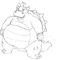 Fat king Koopa. by levert2457
