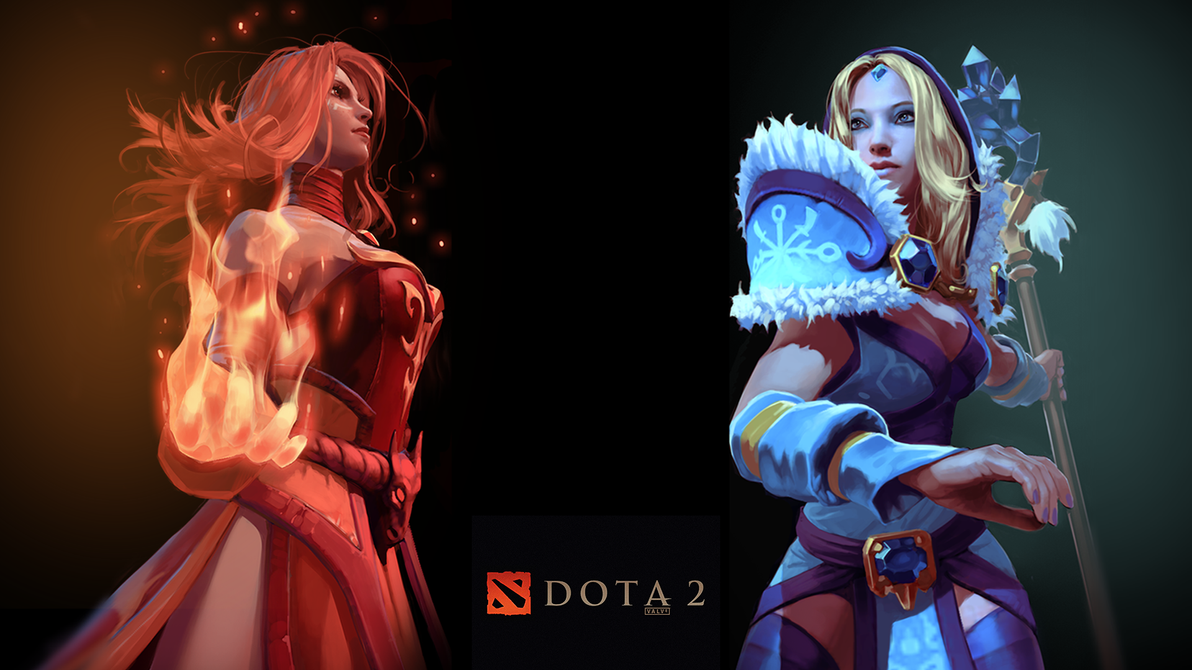 Dota 2 Lina And Crystal Maiden Wallpaper Mega Wallpapers
