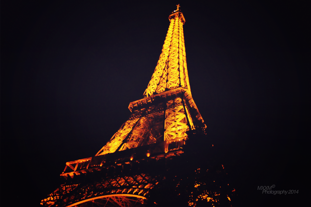 Eiffel Tower at night ii by Mxxm10