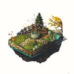 Isometric Garden Pixel Art
