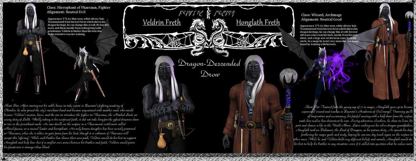 Honglath and Veldrin Freth :: Character Sheet by DrowElfMorwen