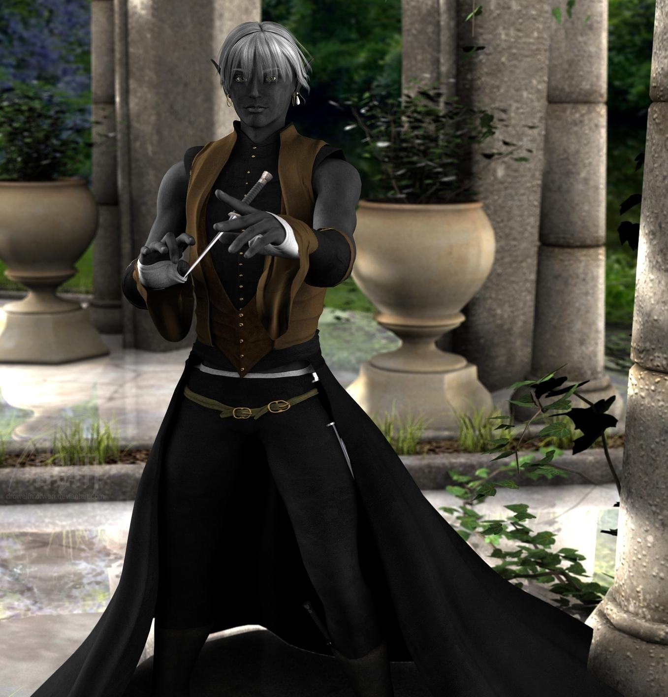 Kalanmor Freth :: Drow Psion by DrowElfMorwen