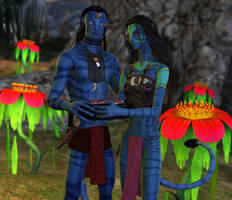 Tenayi and Hukato by DrowElfMorwen