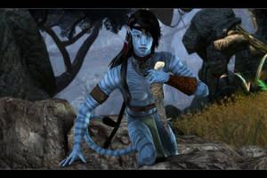 Pandoran Hunter by DrowElfMorwen