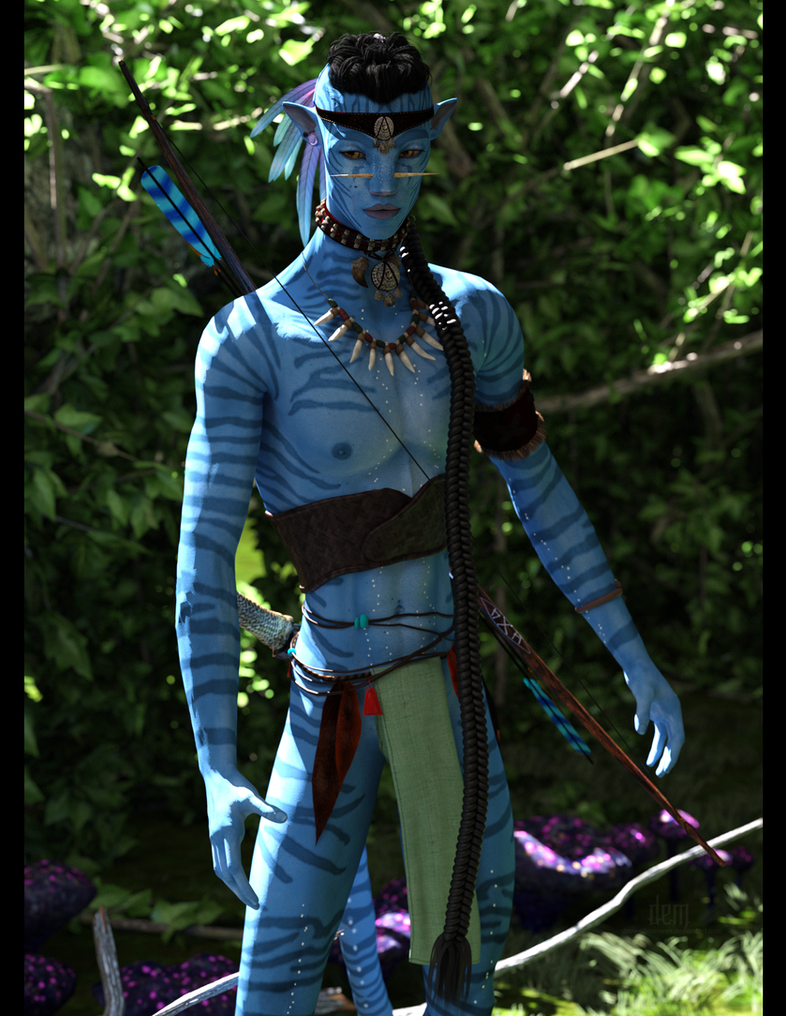 Nawkxey, Na'vi Warrior :: Iray 3 by DrowElfMorwen