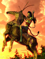 Horse Clan Warrior :: Pa'li Makto by DrowElfMorwen