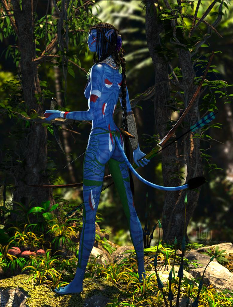 Aynatmey the Warrior :: Na'vi by DrowElfMorwen
