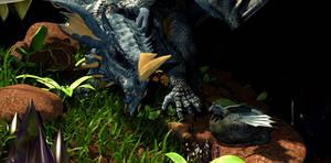 Hatchling :: Chromatic Blue Dragon