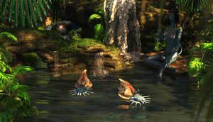 Saggitaria Pond by DrowElfMorwen
