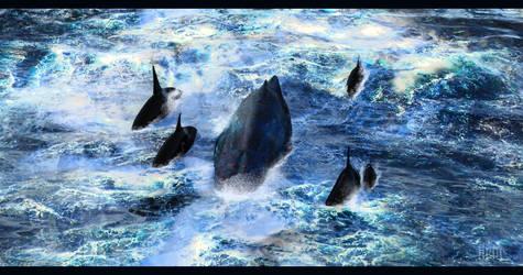 Hunt on the High Seas by DrowElfMorwen