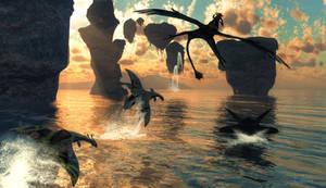 Near the Reef :: Pandora Flight of Passage by DrowElfMorwen