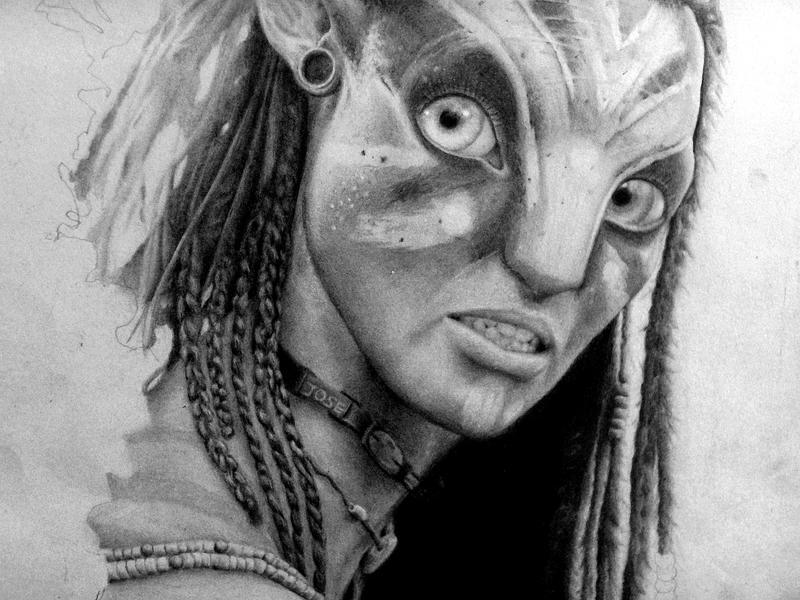 Neytiri war by JohnTheViolator