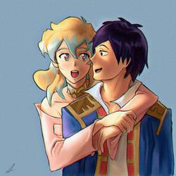Simon and Nia by JohnTheViolator