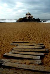 Church on the beach by JACAC