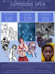 Commission OPEN!