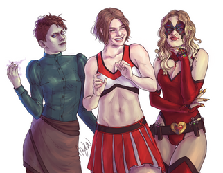 Tia, Sherry, and Cerys