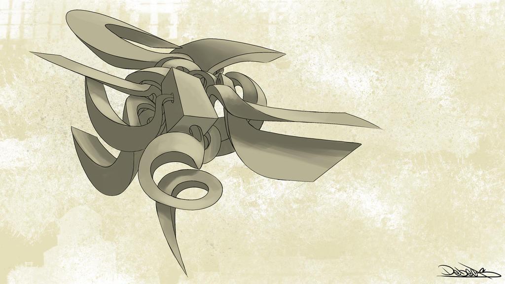 Debecas  graffiti digital bocetos cubo by Debecas
