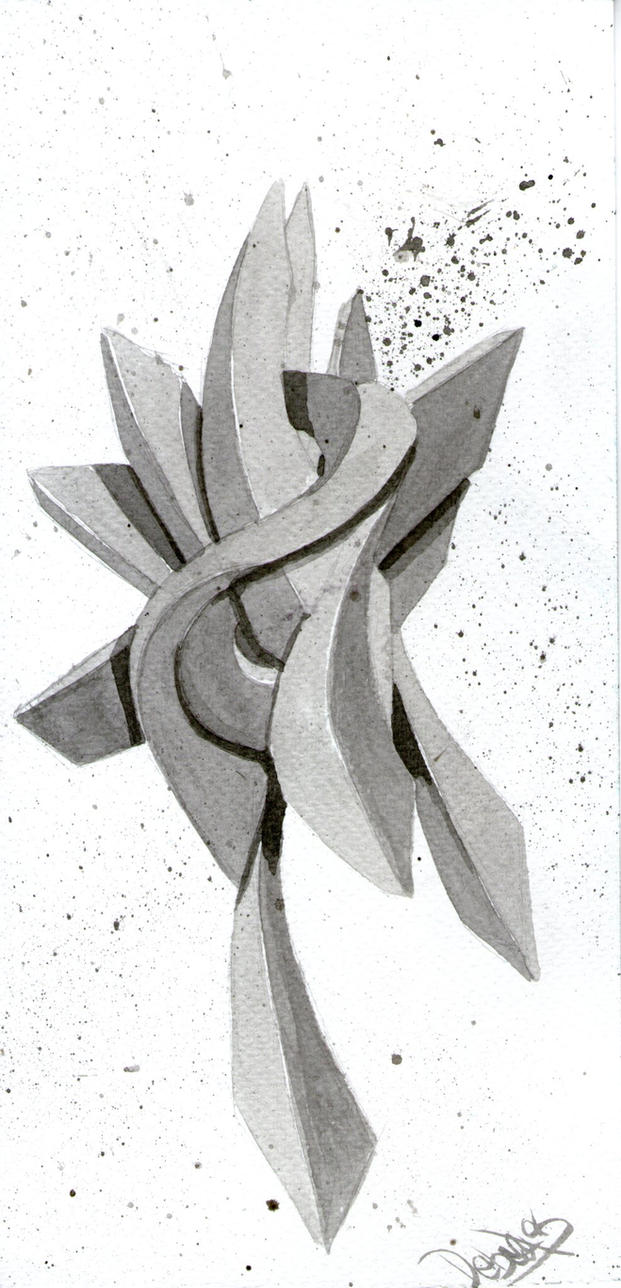 Grafiti 3d linktober dia 1 by Debecas
