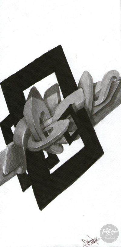 Grafiti  3d linktober 4 by Debecas